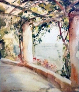 Pergola 1947 36x25 Watercolor - Anthony Thieme