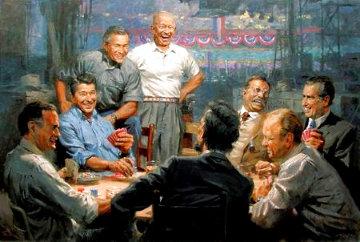 Grand Ol' Gang  Republican Presidents Playing Poker AP 2008 Limited Edition Print - Andy  Thomas