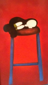 Shush 2003 29x42 Original Painting - Mackenzie Thorpe