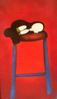 Shush 2003 29x42 Original Painting by Mackenzie Thorpe