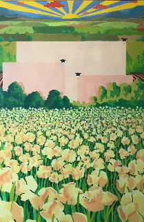 Blossoming Dawn 1988 38x52 Super Huge (Early) Works on Paper (not prints) - Mackenzie Thorpe