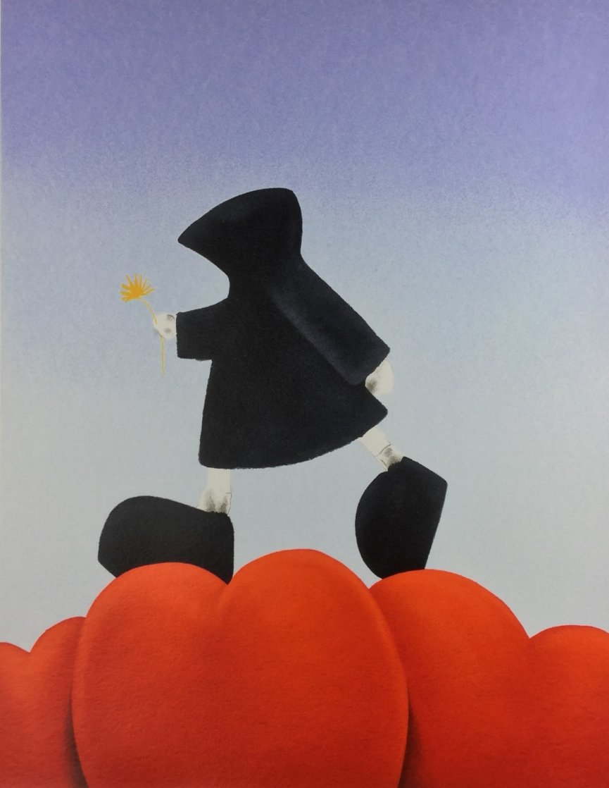 Walking on Love 2003 Limited Edition Print by Mackenzie Thorpe