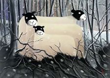 Sheltering 2003 Limited Edition Print - Mackenzie Thorpe