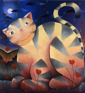 Love Cat 2004 Limited Edition Print - Mackenzie Thorpe