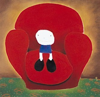 Love Seated Limited Edition Print by Mackenzie Thorpe