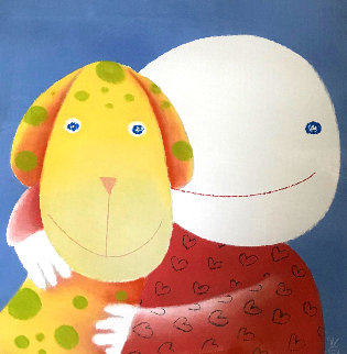 One Eye Love Pastel 2004 25x21 Works on Paper (not prints) - Mackenzie Thorpe