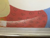 One Eye Love Pastel 2004 25x21 Works on Paper (not prints) by Mackenzie Thorpe - 4