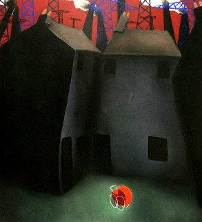 Pram 2002 46x49 Original Painting - Mackenzie Thorpe