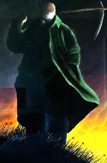 Reaper Pastel 1997 37x25 Works on Paper (not prints) - Mackenzie Thorpe