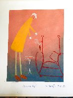 Losing Your Grip Pastel  1995 31x27 Works on Paper (not prints) by Mackenzie Thorpe - 3