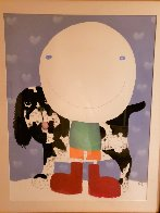 Boy And His Dog 2005 47x39 Super Huge Works on Paper (not prints) by Mackenzie Thorpe - 2