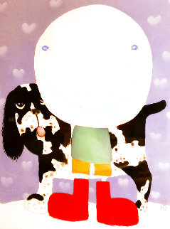 Boy And His Dog 2005 47x39 Huge Works on Paper (not prints) - Mackenzie Thorpe