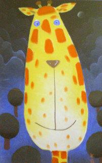 Neal Pastel 25x15 Original Painting - Mackenzie Thorpe