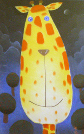 Neal Pastel 25x15 Original Painting by Mackenzie Thorpe