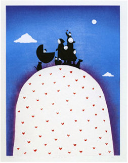 Family on a Hill 2005 Limited Edition Print by Mackenzie Thorpe