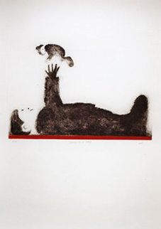 Playing with Baby Limited Edition Print by Mackenzie Thorpe