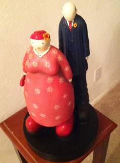 Couple Resin Sculpture 15 in Sculpture by Mackenzie Thorpe