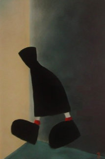 It's a Long Way Watercolor 2000 26x29 Watercolor - Mackenzie Thorpe