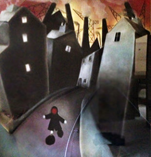 On the Run 2002 51x50 Super Huge Works on Paper (not prints) - Mackenzie Thorpe
