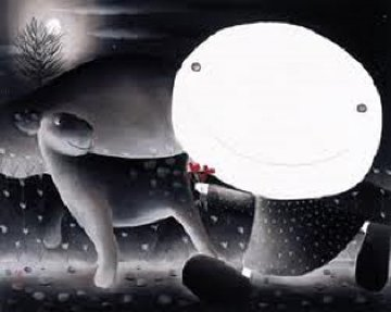 Love And the Moon 2003 Limited Edition Print by Mackenzie Thorpe