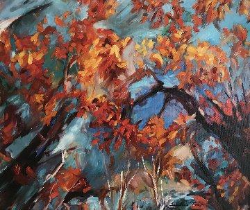 Sky Touch 2015 25x29 Original Painting - Redina Tili