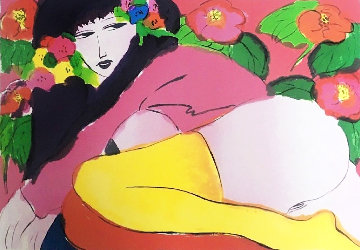 Yellow Socks 1985 Limited Edition Print - Walasse Ting