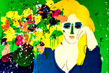 Lady With Vase Limited Edition Print - Walasse Ting