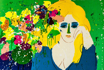 Lady With Vase AP 1981 Limited Edition Print - Walasse Ting