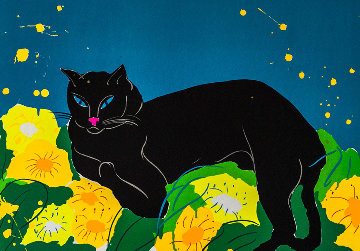 Black Cat AP 1981 Limited Edition Print - Walasse Ting