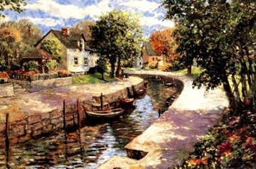 Canal PP Limited Edition Print by Christian Title