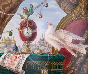 Surprize 1999 34x31 Original Painting - Aleksei Tivetsky