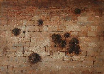 Western Wall 2018 9x13 Original Painting - Kim Tkatch