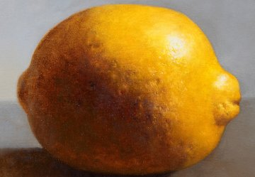 Lemon 2013 43x66 Original Painting - Kim Tkatch