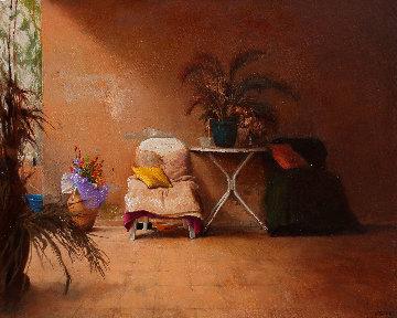 In the Shadow 2016 32x39 Original Painting by Kim Tkatch