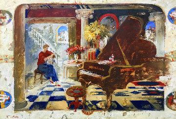 Grand Piano 55x75 Original Painting by Kim Tkatch