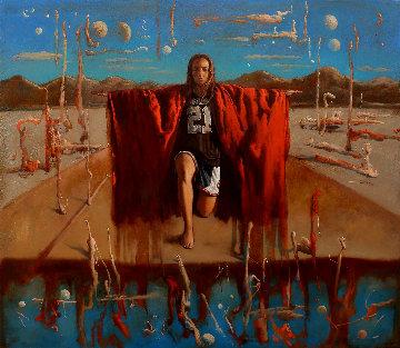 Rise 2019 51x59 Original Painting - Kim Tkatch