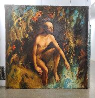 On the River of Jordan  2006 68x68 Super Huge Original Painting by Kim Tkatch - 1