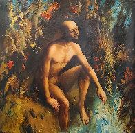 On the River of Jordan  2006 68x68 Super Huge Original Painting by Kim Tkatch - 0