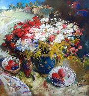 Untitled Painting 1997 30x60 Original Painting by Kim Tkatch - 0