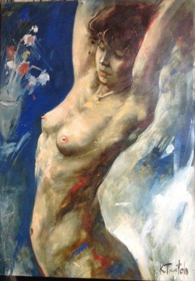 Untitled Nude 2003 37x26 Original Painting by Kim Tkatch