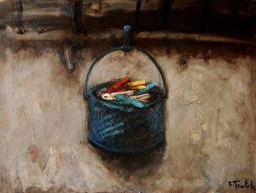 Pins 35x47 Original Painting - Kim Tkatch