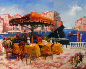 Venetian Memory 2002 42x50 Original Painting - Kim Tkatch