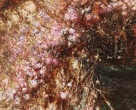Flowers With Dried Lotus 2015 19x16 Original Painting by Kim Tkatch - 1
