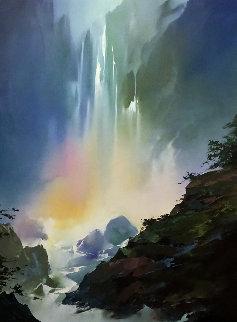 Mystic Falls 1991 42x57 Original Painting - Thomas Leung
