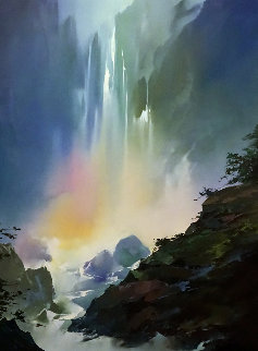 Mystic Falls 1991 42x57 Super Huge Original Painting - Thomas Leung