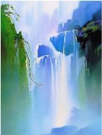 Misty Falls  1991 Limited Edition Print by Thomas Leung - 1