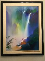 Untitled Landscape Painting 1992 52x44 Super Huge Original Painting by Thomas Leung - 1