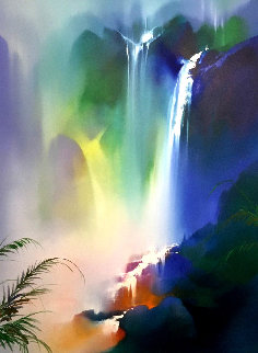 Untitled Landscape Painting 1992 52x44 Super Huge Original Painting - Thomas Leung