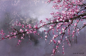Winter Plum Blossom II 2018 20x30 Original Painting - Thomas Leung