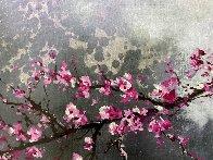 Winter Plum Blossom II 2018 20x30 Original Painting by Thomas Leung - 1
